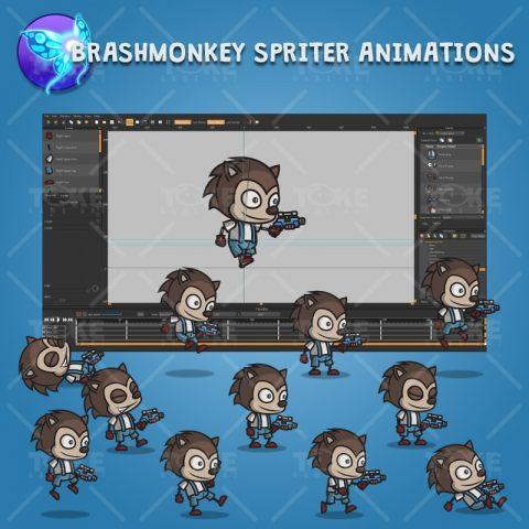 Hedgehog Guy - Brashmonkey Spriter Character Animations