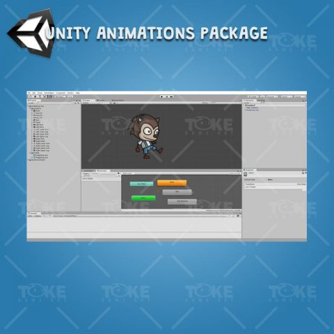 Hedgehog Guy - Unity Character Animation Package with Spriter2UnityDX Tool