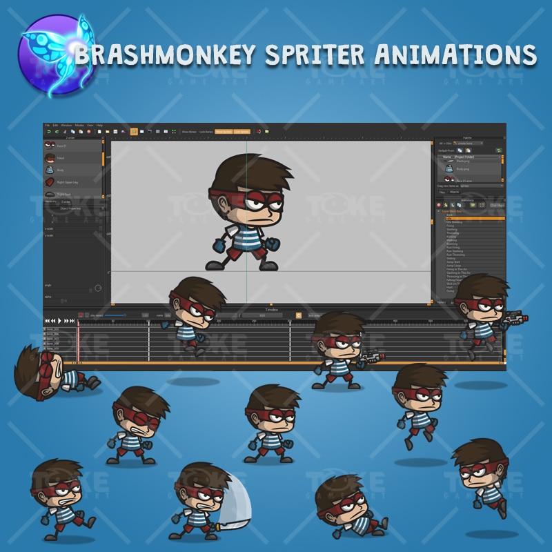 Super Hero Boy - Brashmonkey Spriter Character Animations