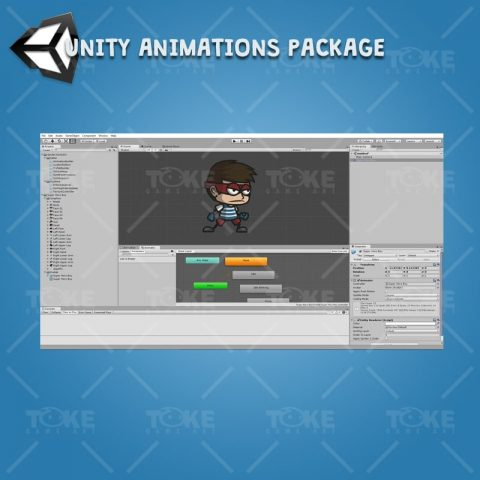 Super Hero Boy - Unity Character Animation Package with Spriter2UnityDX Tool