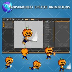 Halloween Boy 2D Game Character Sprite - Brashmonkey Spriter Character Animation
