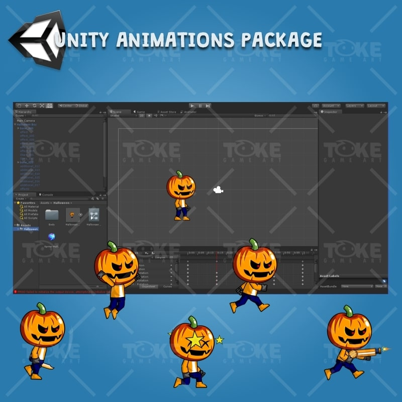 Halloween Boy 2D Game Character Sprite - Unity Character Animation Ready