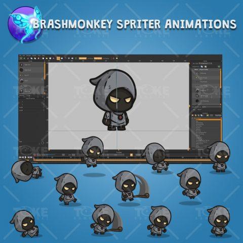 Black Wizard - Brashmonkey Spriter Character Animations