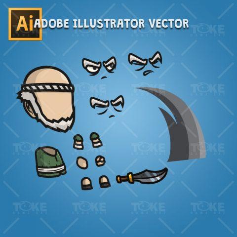 Blacksmith Guy - Adobe Illustrator Vector Art Based Character Body Part