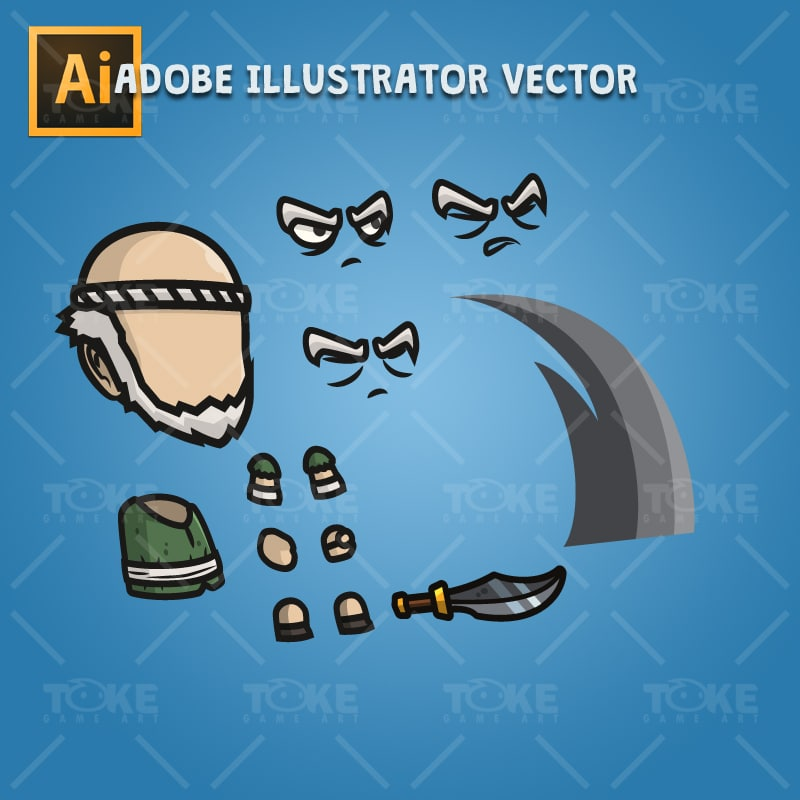 Blacksmith Guy - Adobe Illustrator Vector Art Based Character Body Part