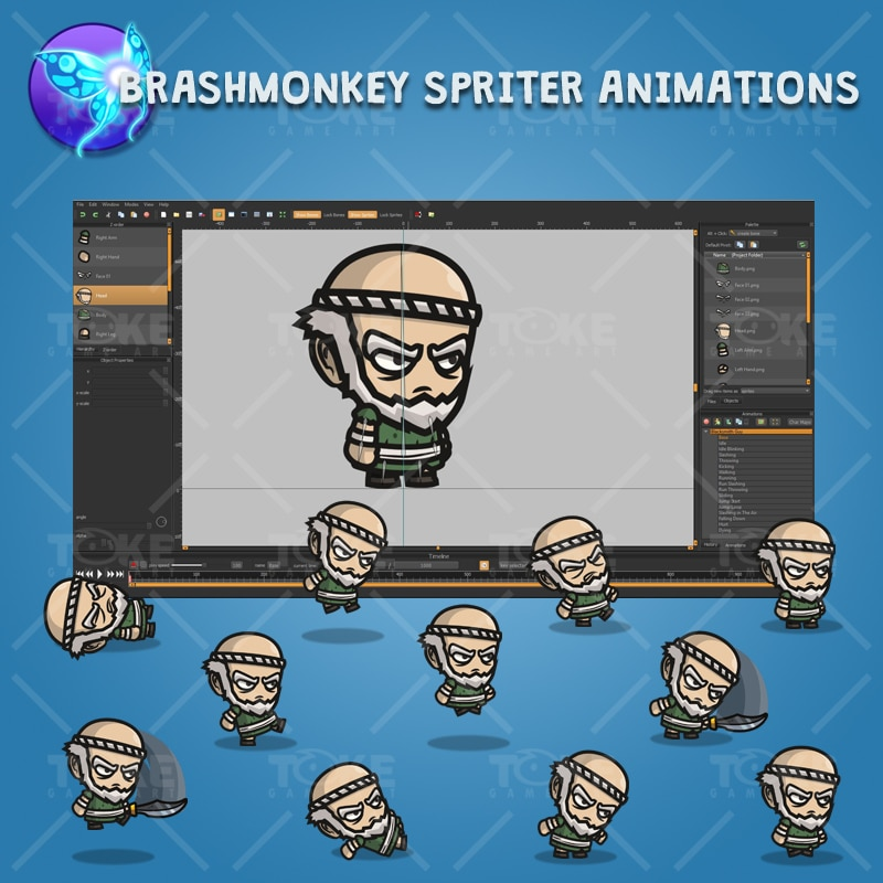 Blacksmith Guy - Brashmonkey Spriter Character Animations