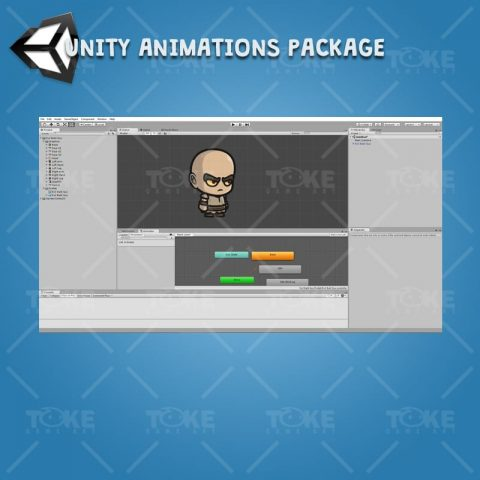 Evil Bald Guy - Unity Character Animation Ready with Spriter2UnityDX Tool