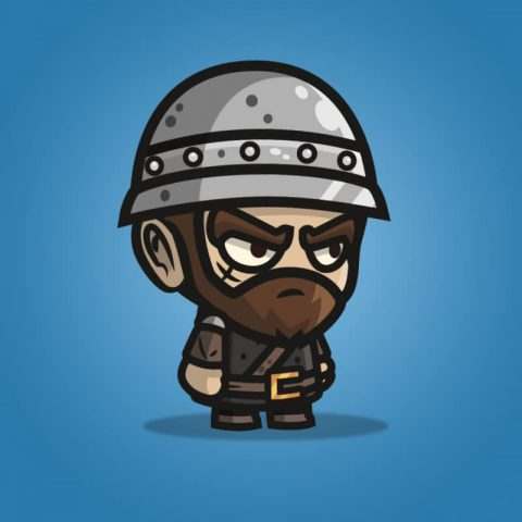 Medieval Sergeant - 2D Character Sprite