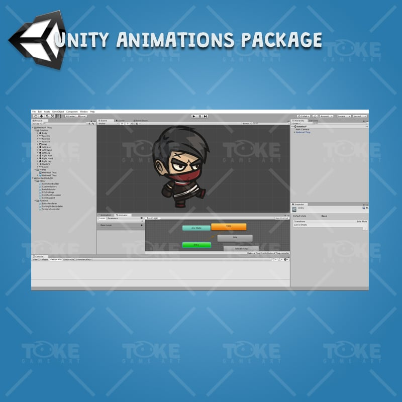 Medieval Thug - Unity Character Animation with Spriter2UnityDX Tool
