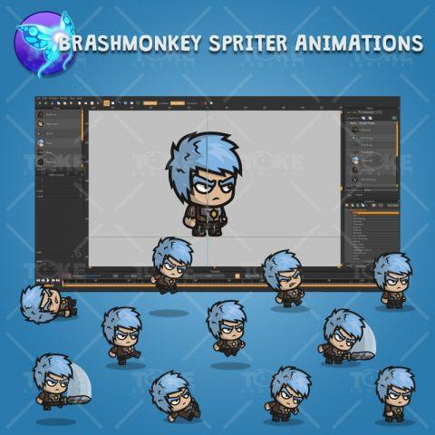Medieval Warrior - Brashmonkey Spriter Character Animations