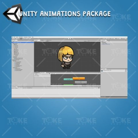 Medieval Warrior Girl - Unity Character Animation Ready with Spriter2UnityDX Tool