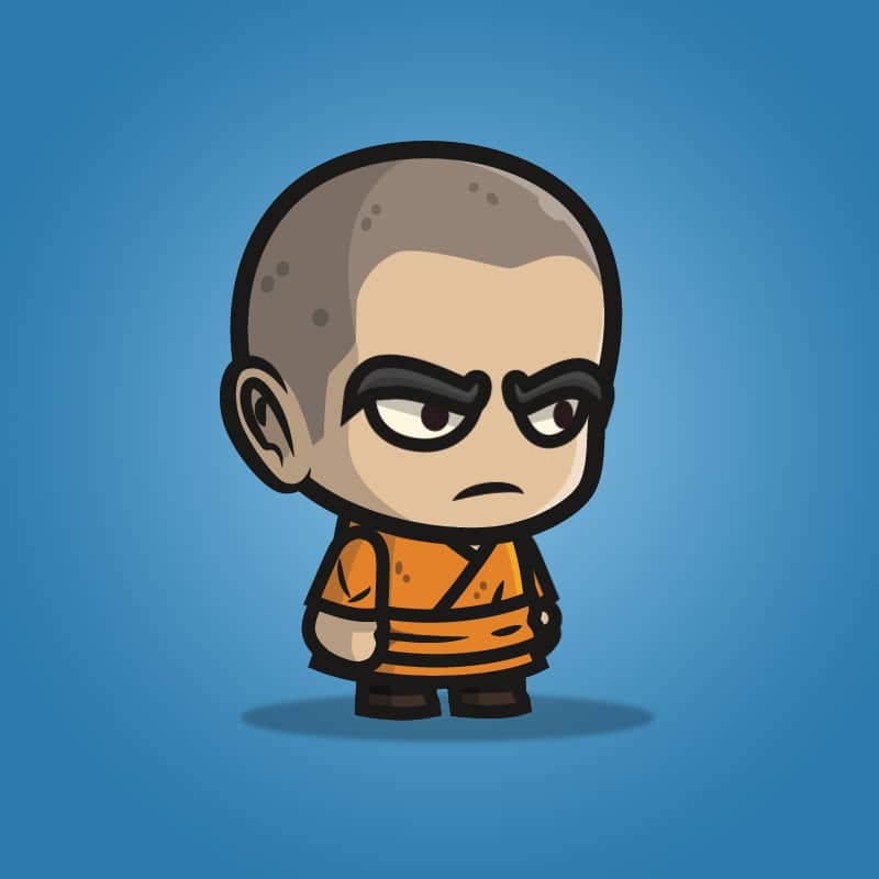 monk guy - 2d character sprite for indie game developer | tokegameart