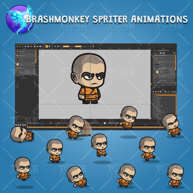 Monk Guy - Brashmonkey Spriter Character Animations