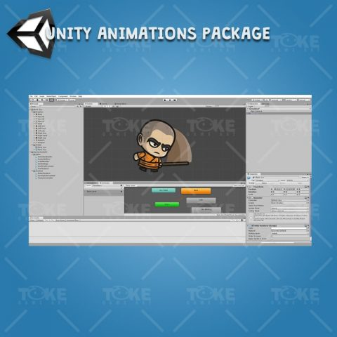 Monk Guy - Unity Character Animation with Spriter2UnityDX Tool
