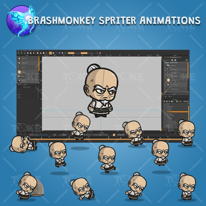 Old Guy - Brashmonkey Spriter Character Animations
