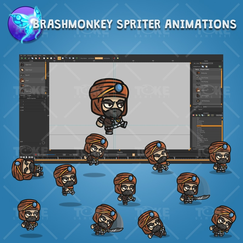 Persian Warrior - Brashmonkey Spriter Character Animations