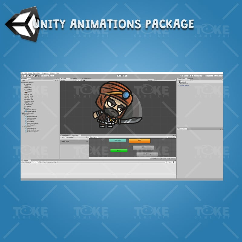 Persian Warrior - Unity Character Animation with Spriter2UnityDX Tool