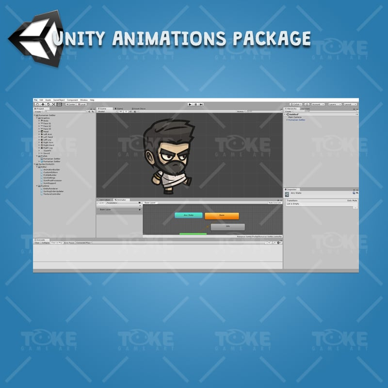 Romanian Settler - Unity Character Animation with Spriter2UnityDX Tool