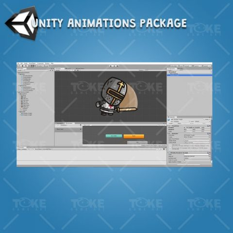 Templar Knight - Unity Character Animation with Spriter2UnityDX Tool