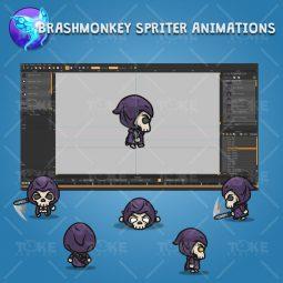 4 Directional Skeleton Knight - - Brashmonkey Spriter Character Animations