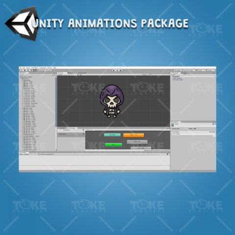 4 Directional Skeleton Knight - Unity Character Animation with Spriter2UnityDX Tool