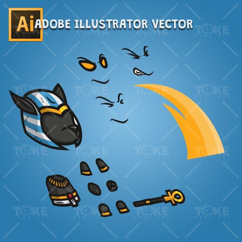 Anubis - Adobe Illustrator Vector Art Based Character Body Part