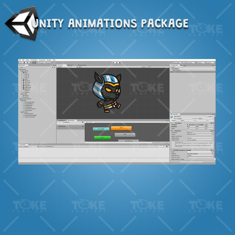 Anubis - Unity Character Animation with Spriter2UnityDX Tool