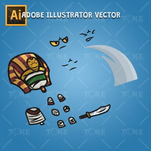 Egyptian Mummy - Adobe Illustrator Vector Art Based Chracter Body Parts