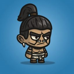 Mayan Tribe Knight - 2D Character Sprite for Indie Game Developer