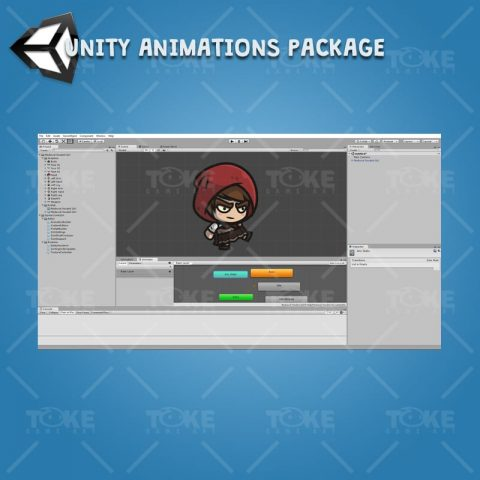 Medieval Hooded Girl - Unity Character Animation with Spriter2UnityDX tool