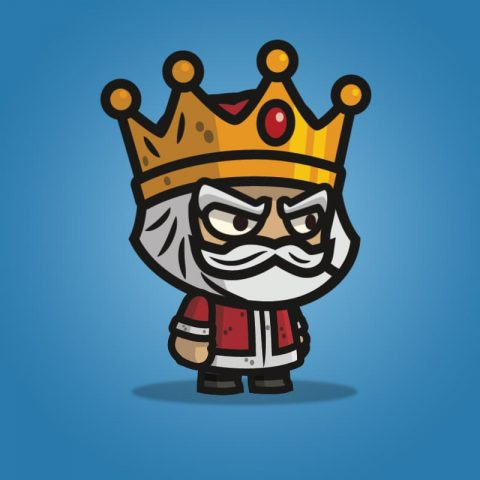 Medieval King - 2D Character Sprite for Indie Game Developer