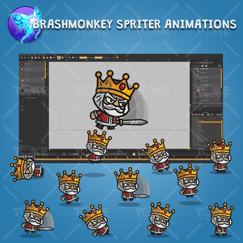 Medieval King - Brashmonkey Spriter Character Animations