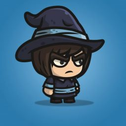 Medieval Mage - 2D Character Sprite for Indie Game Developer