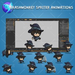 Medieval Mage - Brashmonkey Spriter Character Animations