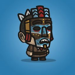 Medieval Masked Guy - 2D Character Sprite for Indie Game Developer