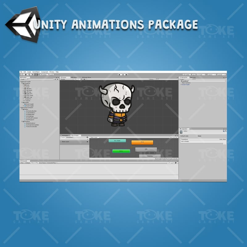 Skull Knight - Unity Character Animation with Spriter2UnityDX Tool