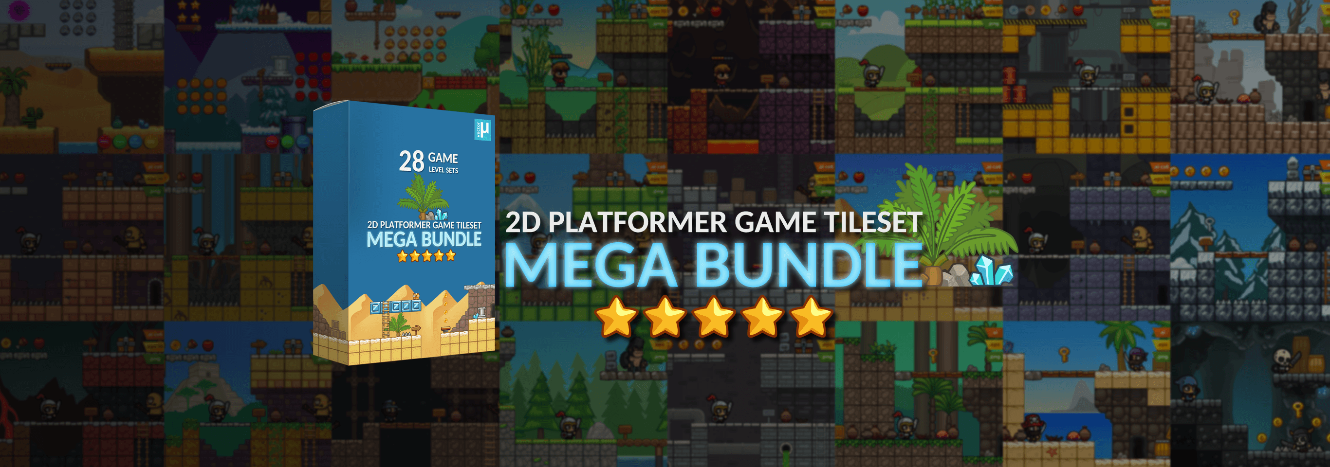 2D Platformer Game Tileset Mega Bundle