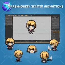 4 Directional Warrior Girl - Brashmonkey Spriter Character Animations