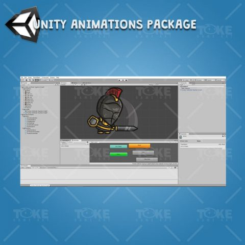 Frontier Defender Spartan Knight - Unity Character Animation Ready with Spriter2UnityDX Tool