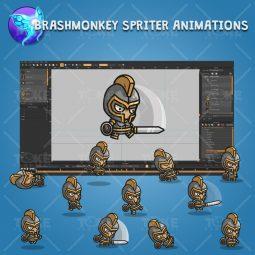 Heavy Armored Defender Knight - Brashmonkey Spriter Character Animations
