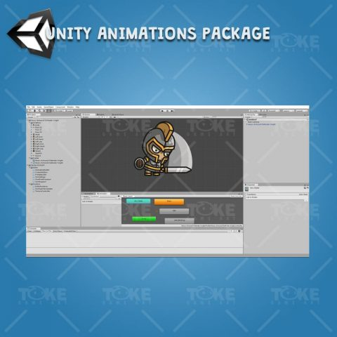 Heavy Armored Defender Knight - Unity Character Animation Ready with Spriter2UnityDX Tool