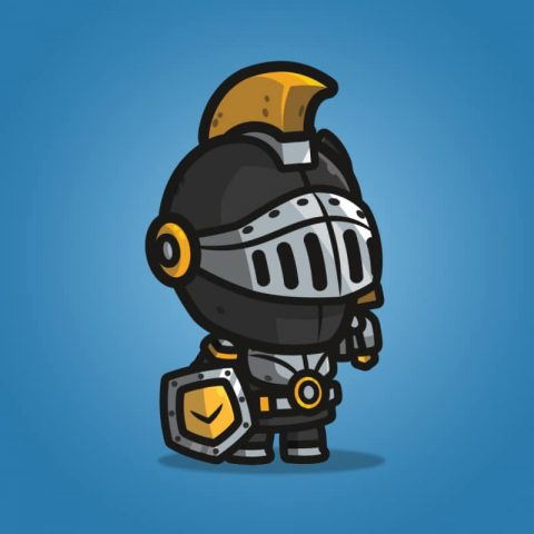 Very Heavy Armored Frontier Defender - 2D Character Sprite for Indie Game Developer