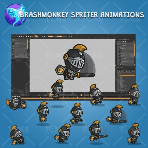 Very Heavy Armored Frontier Defender - Brashmonkey Spriter Character Animations