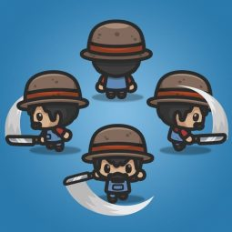4 Directional Farmer Guy - 2D Character Sprite