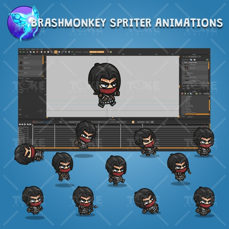 Archer Guy - Brashmonkey Spriter Character Animations
