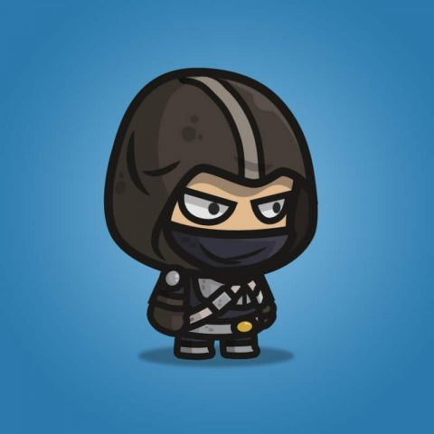 Assassin Guy - 2 Character Sprite for Indie Game Developer