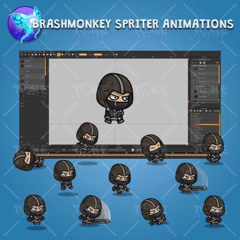 Assassin Guy - Brashmonkey Spriter Character Animations