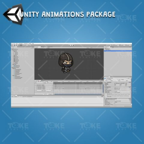 Assassin Guy - Unity Character Animation Ready with Spriter2UnityDX Tool