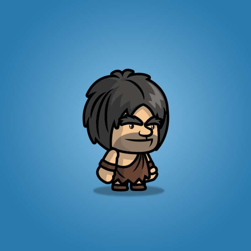 Caveman Guy - 2D Character Sprite