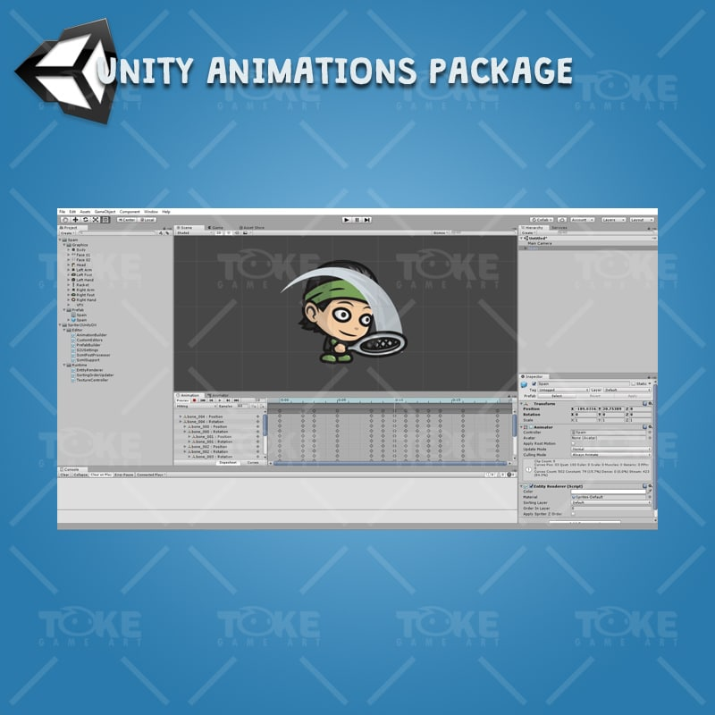 Tiny Tennis Players - Unity Character Animation Ready with Spriter2UnityDX Tool